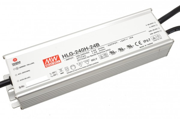 Mean Well HLG-240H-24B Installationsnetzteil 24V DC Dimmbar