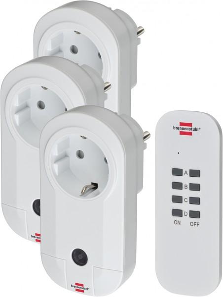 Brennenstuhl Funkschalt-Set RC CE1 3001 neu (3er Funksteckdosen Set Innenbereich, mit Handsender und