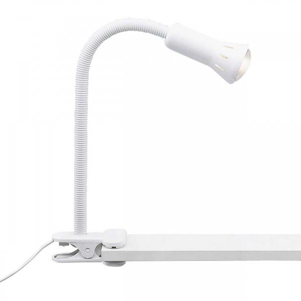 24705T05 Flex Klemmleuchte Metall/Kunststoff weiß