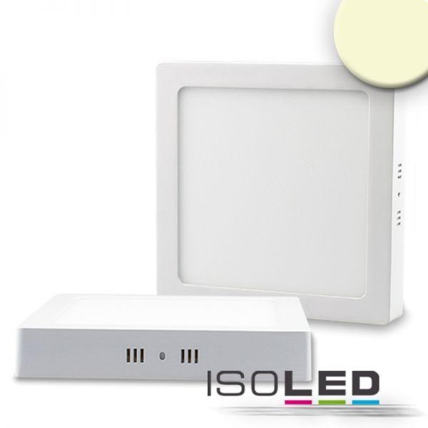 ISOLED 112360 LED Deckenleuchte weiß, 18W, quadratisch, 220x220mm, warmweiß
