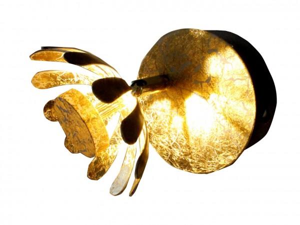 ECO-LIGHT 9022 GO LED-Wandleuchte BLOOM gold