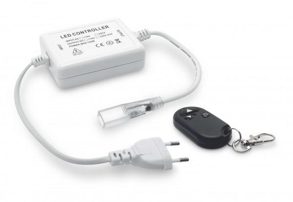 Funkfernbedienung Controller Dimmer Netzkabel 230V für einfarbige 3528/2835 LED Streifen