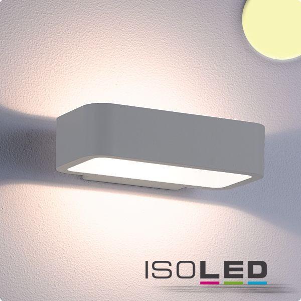 Isoled 112195 LED Wandleuchte Up&Down 1x7W CREE, IP54, silber, warmweiß