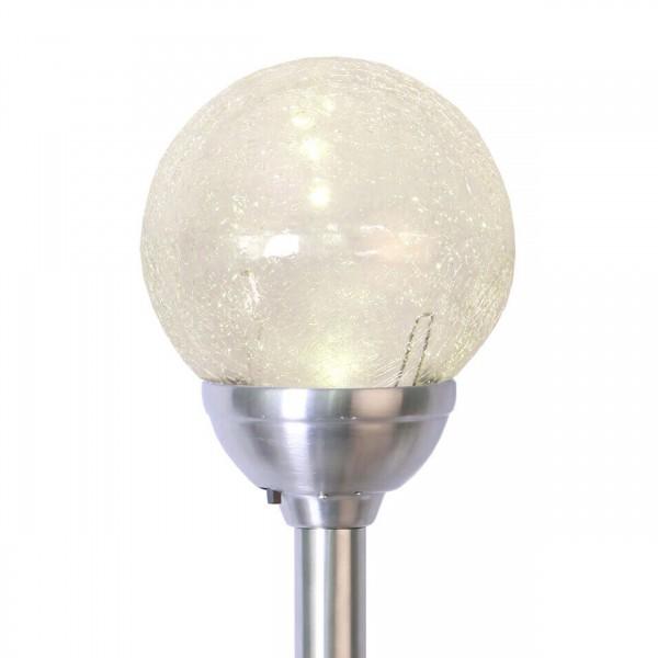 Best Season 479-27 LED-Solar-Wegleuchte mit Kugel, Edelstahl,