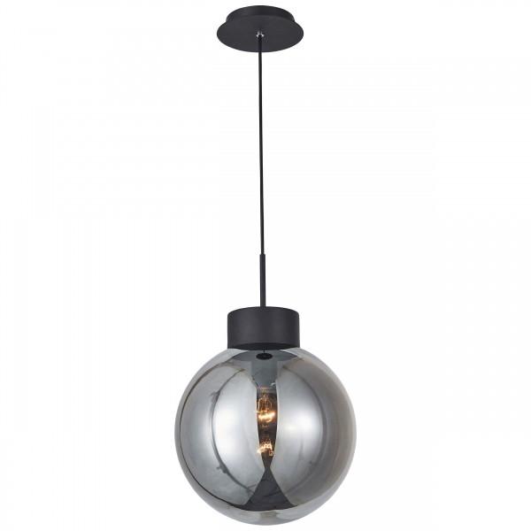 85270/93 Astro Pendelleuchte 30cm Glas/Metall schwarz/rauchglas