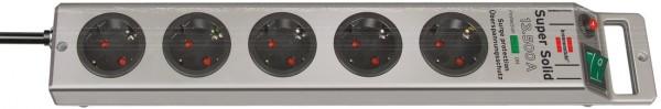 Brennenstuhl Super-Solid 5-fach Überspannungsschutz-Steckerleiste 13.500A 2,5m silbern