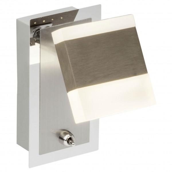 Brilliant G18810/77 Target Wandspot mit Schalter Metall/Kunststoff