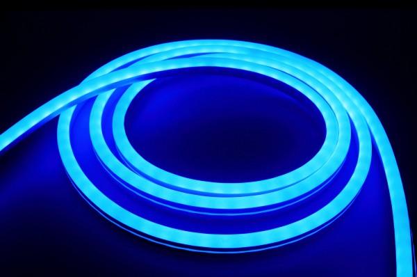 230V LED NeonFlex Streifen Set | blau | Netzkabel opt 3 Längen | 1 bis 50m wählbar | IP66