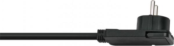 Brennenstuhl Qualitäts-Kunststoff-Verlängerungskabel mit Flachstecker IP20 10m H05VV-F3G1,5 weiß