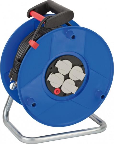 Brennenstuhl Garant Export Kabeltrommel (50m Kabel in schwarz, Spezialkunststoff, Einsatz im Innenbe