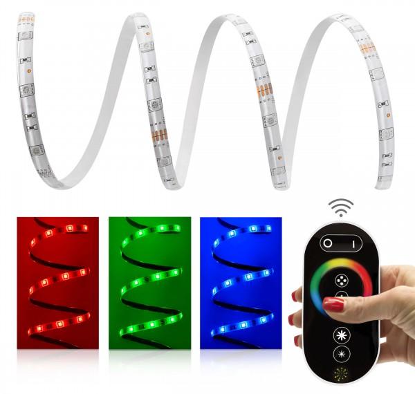 12V LED Streifen Set | RGB | Trafo und Fernbedienung | 1 bis 20m wählbar | IP65
