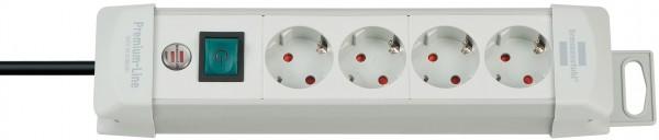 Brennenstuhl Premium-Line 4-fach Steckdosenleiste Schalter 1,8m Kabel grau
