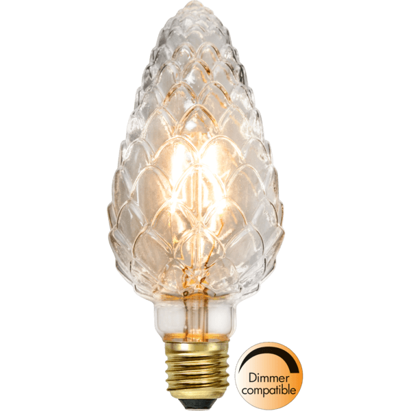 "Decoration LED ""Soft Glow"", Zapfen,E27, 2200K, A+, dimmbar"