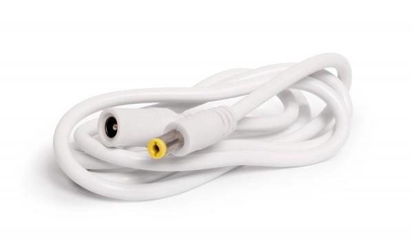 2 Pol DC Gleichstrom - Erweiterungskabel mit Steckverbindungen (DC Buchse / DC Stecker) 1m Länge