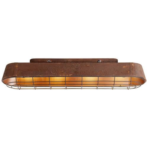 Brilliant 90879/55 Alvera Deckenleuchte 89x21cm Metall rostfarbend