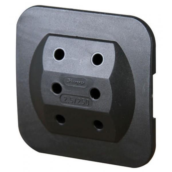 Kopp Adapterstecker 174905008 für 3 Euro-Stecker extra flach schwarz