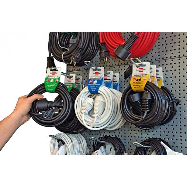 Brennenstuhl Qualitäts-Kunststoff-Verlängerungskabel IP20 3m H05VV-F 3G1,5 schwarz