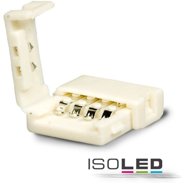 Clip-Verbinder für 4-pol. IP20 Flexstripes mit Breite 10mm, Pitch-Abstand >12mm