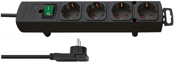 Brennenstuhl Comfort-Line Plus 4-fach Steckdosenleiste Schalter Flachstecker 2m Kabel schwarz
