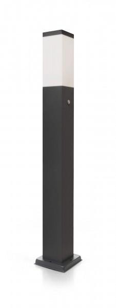 LED Wegeleuchte mit 2 Steckdosen + Dämmerungssensor anthrazit