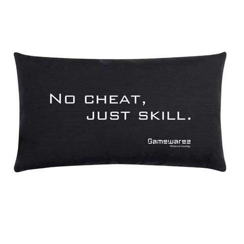 "Gamewarez Gaming Kissen ""No cheat, just skill."", schwarz, 30x50cm"