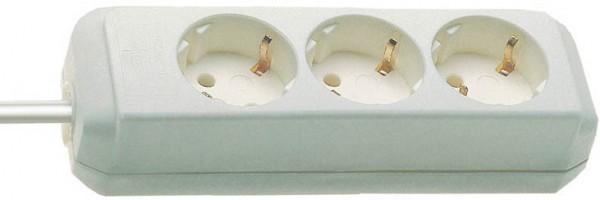 Brennenstuhl Eco-Line, Steckdosenleiste 3-fach (1,5m Kabel - besonders stromsparend) weiß