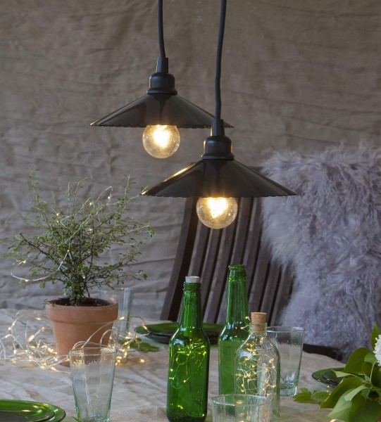 """Star Trading 456-40 LED-Draht-Kette """"Dew Drop Outdoor"""", silber"""