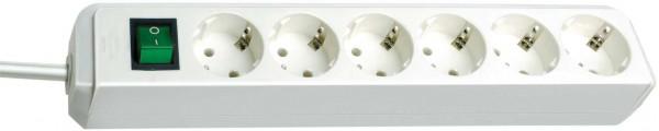 Brennenstuhl Eco-Line Steckdosenleiste mit Schalter 6-fach 1,5m Kabel weiß