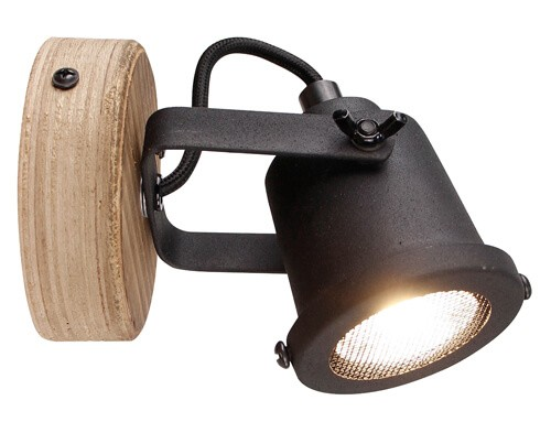 Brilliant HK18995S76 Inge Wandspot Metall/Holz holz dunkel/schwarz
