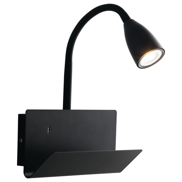 ECO-Light I-GULP-AP NER Wandleuchte GULP, schwarz
