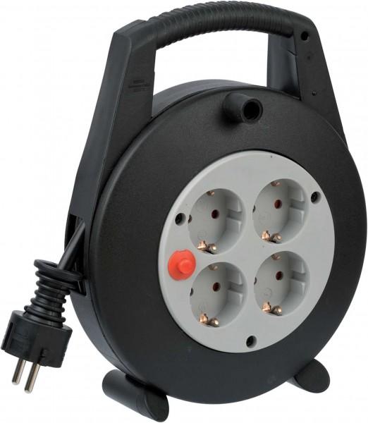 Brennenstuhl Vario Line Kabelbox 4-fach schwarz/lichtgrau 5m H05VV-F 3G1,5