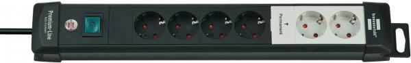 Brennenstuhl Premium-Line, Technik Steckdosenleiste 6-fach mit permanenten und schaltbaren Steckdose
