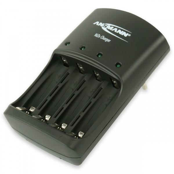Ansmann Nickel-Zink Ladegerät Akku / Leistungsstarkes 4-fachLadegerät für 1,6V NiZn AA oder AAA Akku