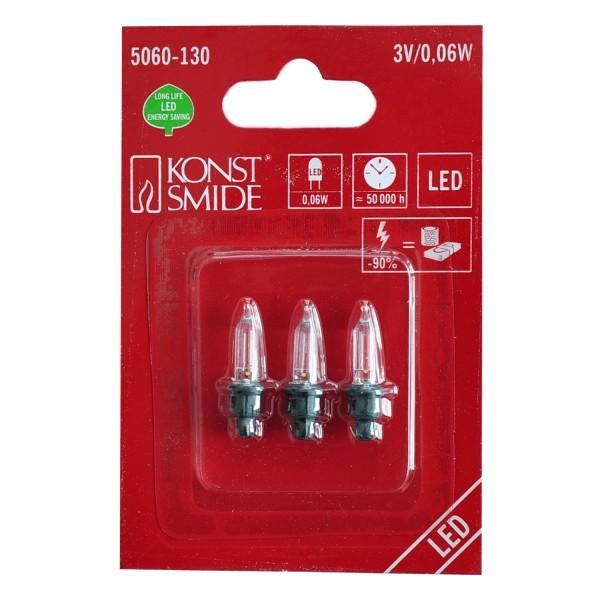 Konstsmide 5060-130 LED Ersatzbirne grün 3er Blister 3V 0,06W für Außenminilichterketten
