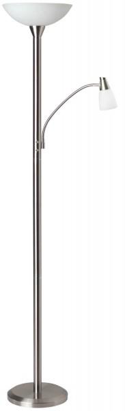 Brilliant G93004/13 Lucy Deckenfluter mit Lesearm Metall/Glas eisen