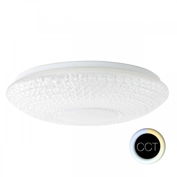 Brilliant G97012/75 Nunya Deckenleuchte 52cm Kunststoff/Metall weiß/chrom