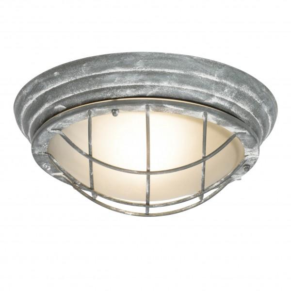 Brilliant 96301/70 Olena Außenwand- und Deckenleuchte 28cm Metall/Glas grau Beton/weiß