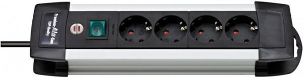 Brennenstuhl Premium-Alu-Line 4-fach Steckdosenleiste Schalter 1,8m Kabel schwarz