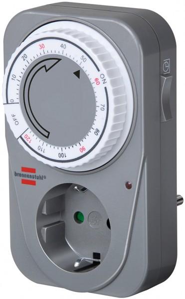 Brennenstuhl mechanische Countdown Timer-Steckdose mit Kindersicherung grau
