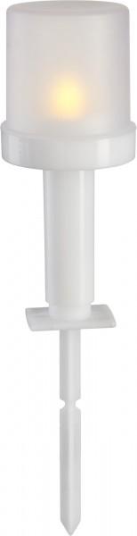 "LED-Kunststoff-Fackel ""Torch"", flackernd, weiss"