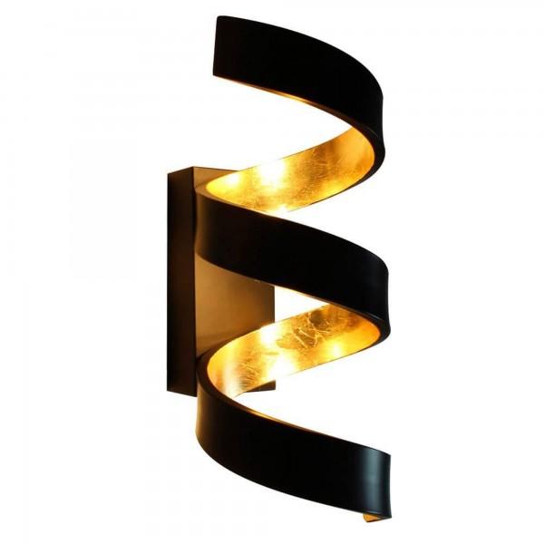 ECO-LIGHT LED-HELIX-AP3 NER Wandleuchte Helix gold/schwarz