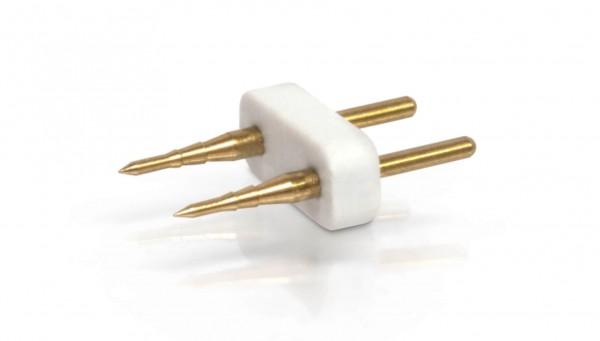 Dorn 2 polig für einfarbige NeonFlex 230V 24V und einf. 230V 5050 LED Streifen