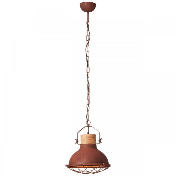 93571/55 Emma Pendelleuchte 33cm Metall/Holz rostfarbend