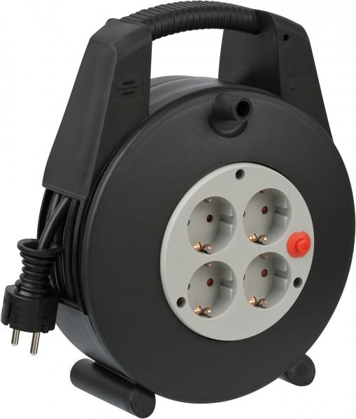 Brennenstuhl Vario Line Kabelbox 4-fach schwarz/lichtgrau 15m H05VV-F 3G1,5
