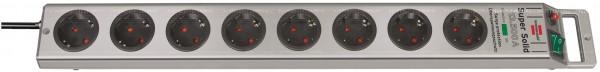 Brennenstuhl 4er Set Super-Solid 8fach Überspannungsschutz-Steckdosenleiste 8-Fach Silber mit Schalt