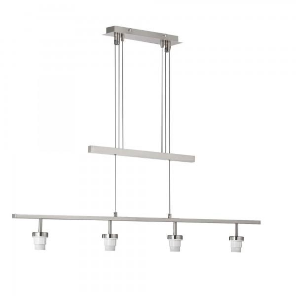 Fischer & Honsel SHINE - LOFT Modular 4 70234 Pendelleuchte o. Glas 4-flg. E27 max.40W nickel matt,