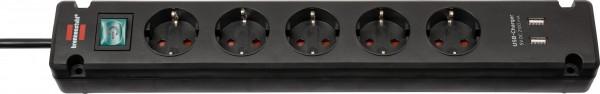 Brennenstuhl Bremounta Steckdosenleiste 5-fach mit USB-Ladefunktion (Steckerleiste mit Befestigungsm